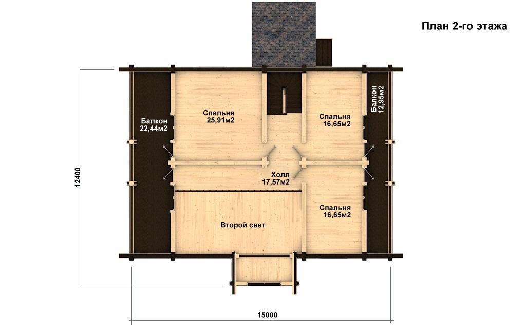 Фото #3: Красивый деревянный дом РС-20 из бревна