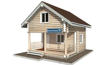 Фото #1: Красивый деревянный дом РС-85 из бревна