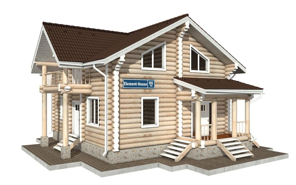 РС-86 - деревянный дома из бревна (из сруба)