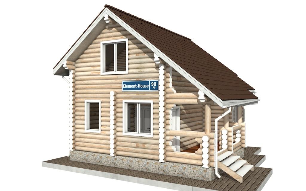 РС-90 - деревянный дома из бревна (из сруба)