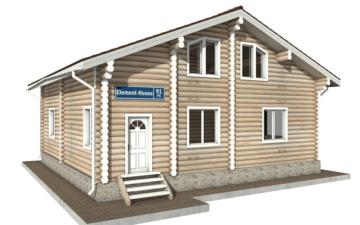 Фото #1: Красивый деревянный дом РС-91 из бревна