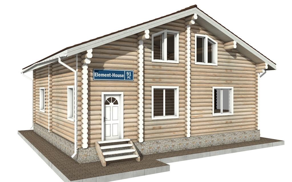 РС-91 - деревянный дома из бревна (из сруба)