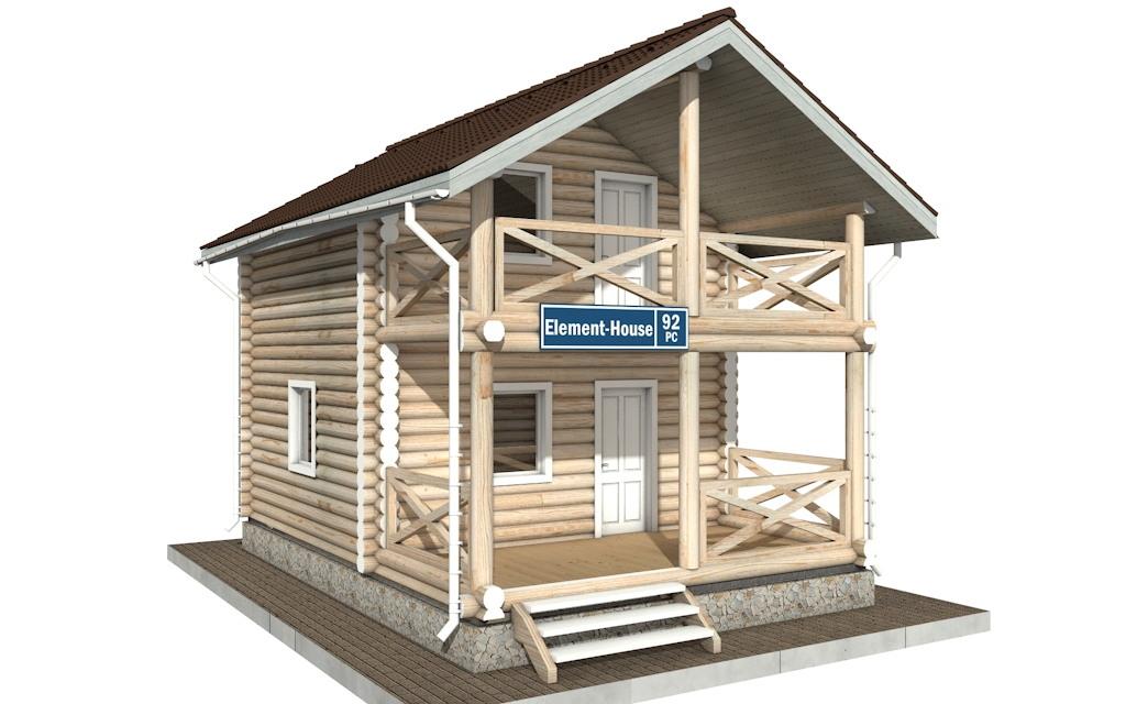РС-92 - деревянный дома из бревна (из сруба)