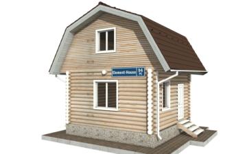 Фото #1: Красивый деревянный дом РС-94 из бревна
