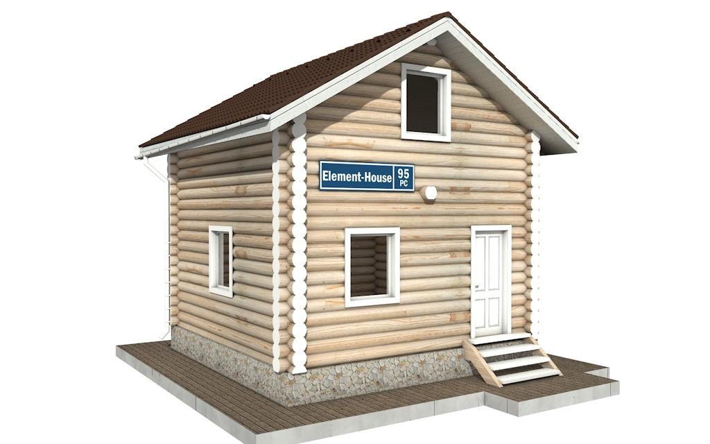 РС-95 - деревянный дома из бревна (из сруба)
