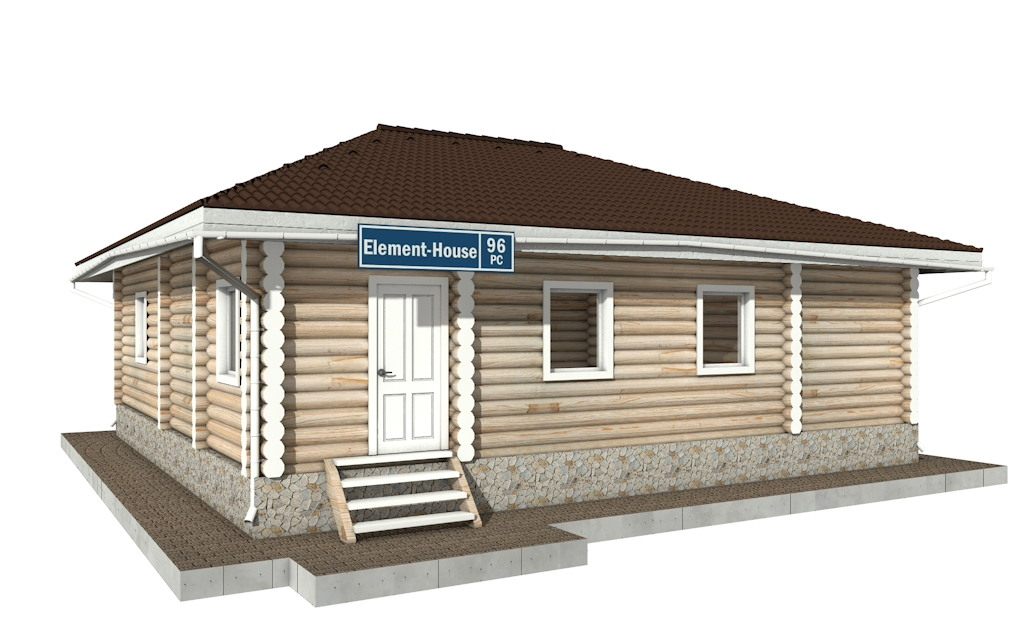 РС-96 - деревянный дома из бревна (из сруба)