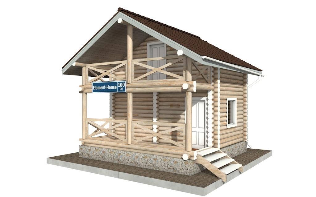 РС-100 - деревянный дома из бревна (из сруба)