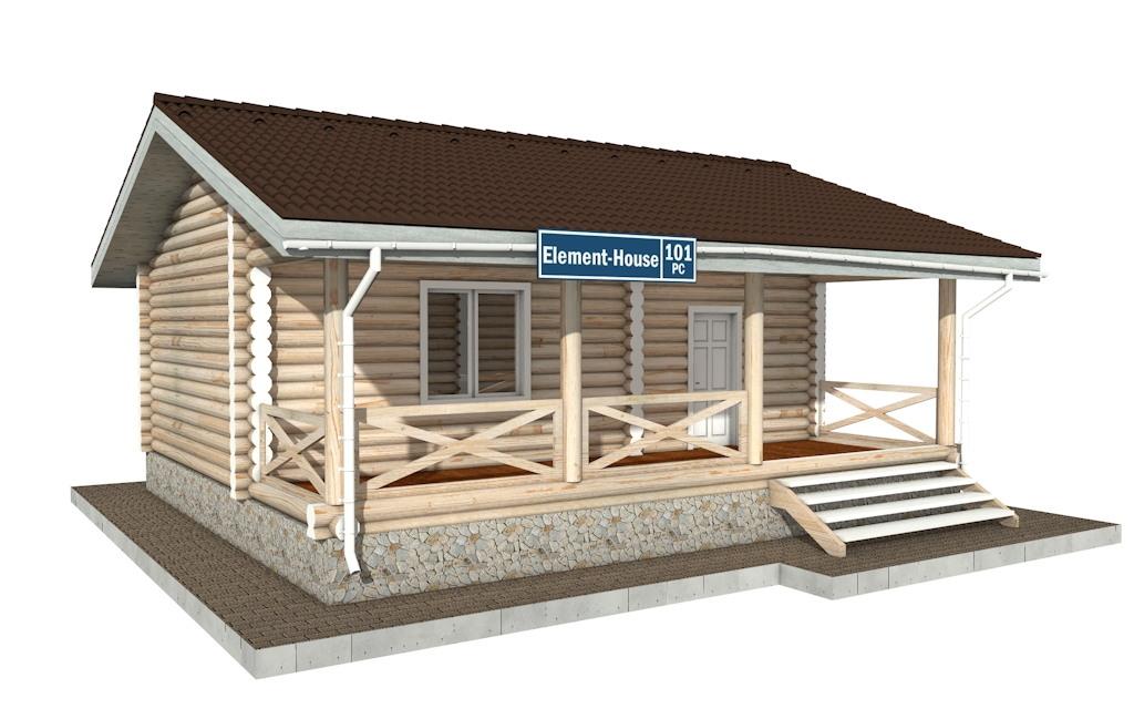 РС-101 - деревянный дома из бревна (из сруба)