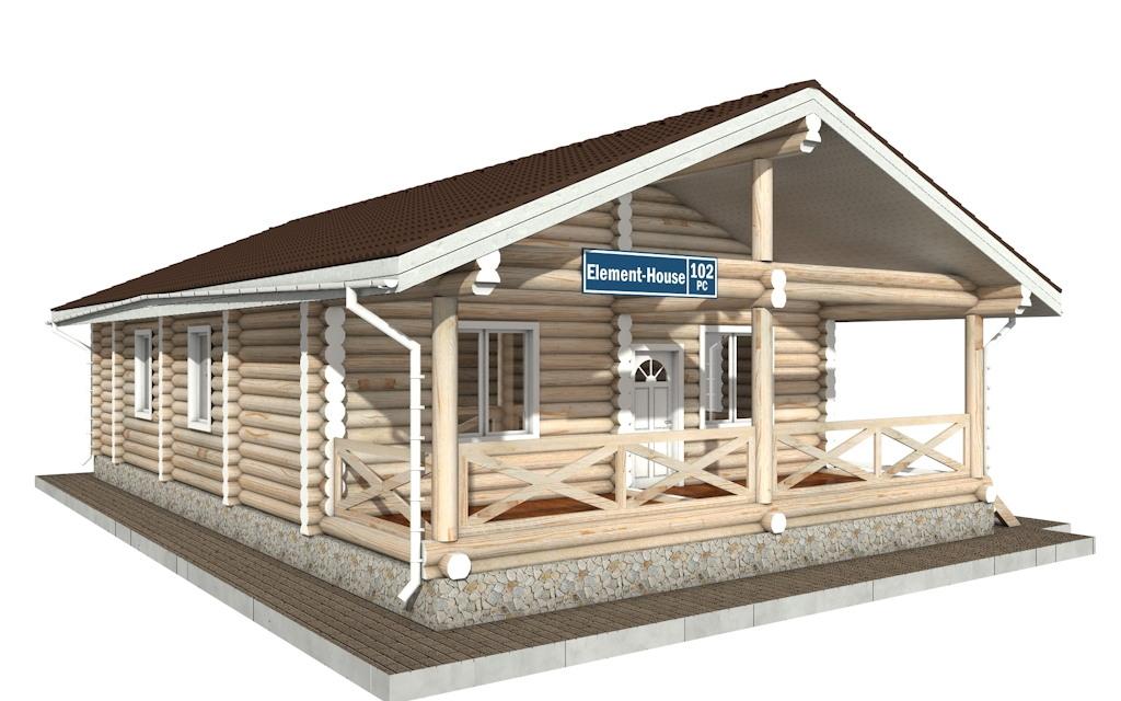 РС-102 - деревянный дома из бревна (из сруба)
