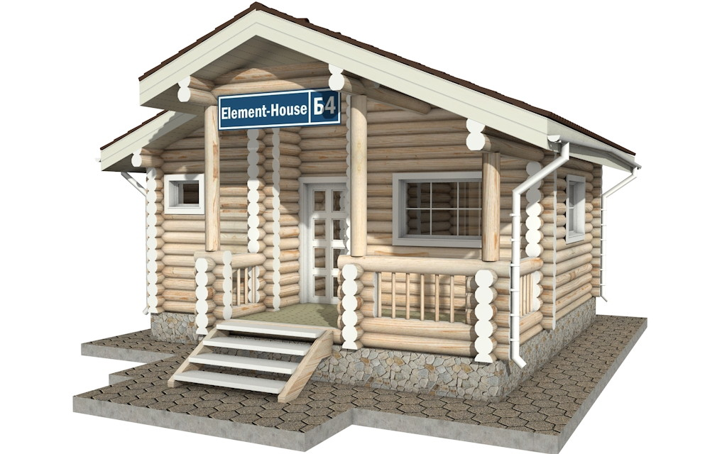 Бр-4 - деревянная рубленная баня из бревна (из сруба)