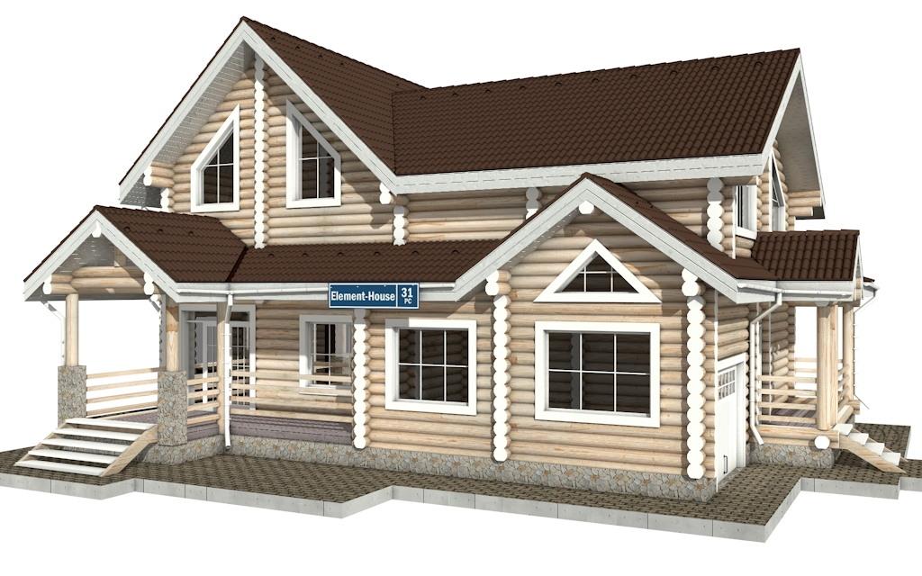 РС-31 - деревянный дома из бревна (из сруба)