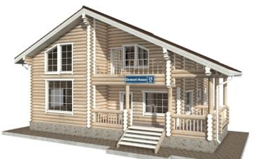 Фото #1: Красивый деревянный дом РС-26 из бревна