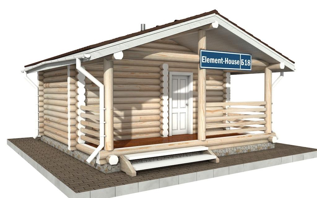 Бр-18 - деревянная рубленная баня из бревна (из сруба)