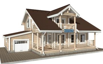 Фото #1: Красивый деревянный дом РС-37 из бревна