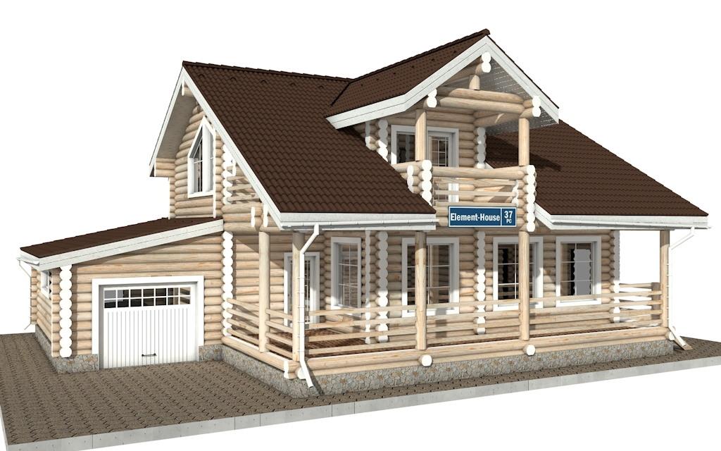 РС-37 - деревянный дома из бревна (из сруба)