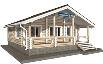 Фото #1: Красивый деревянный дом РС-38 из бревна