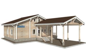 Фото #1: Красивый деревянный дом РС-40 из бревна