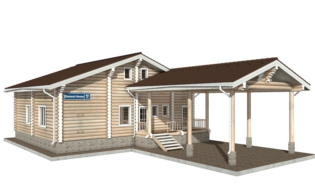 РС-40 - деревянный дома из бревна (из сруба)