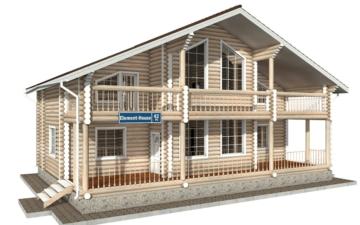 Фото #1: Красивый деревянный дом РС-42 из бревна