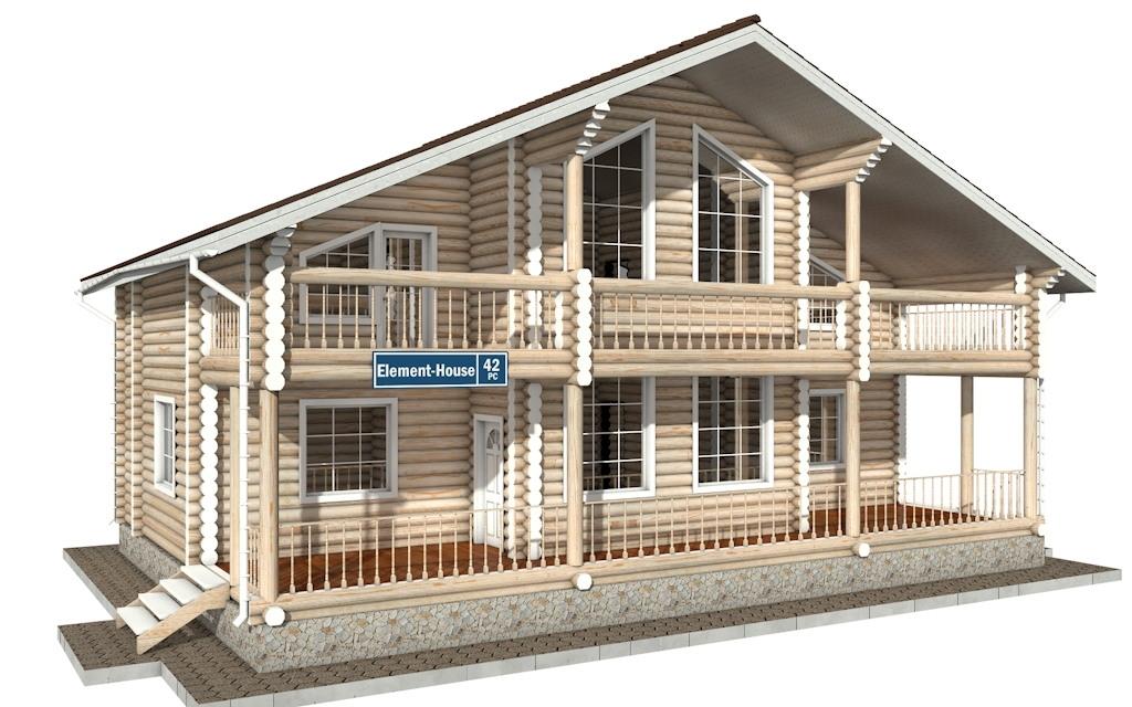 РС-42 - деревянный дома из бревна (из сруба)