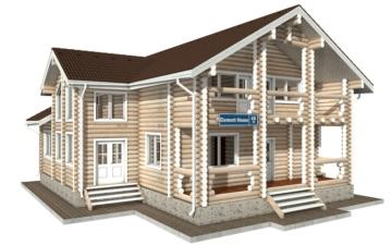 Фото #1: Красивый деревянный дом РС-48 из бревна