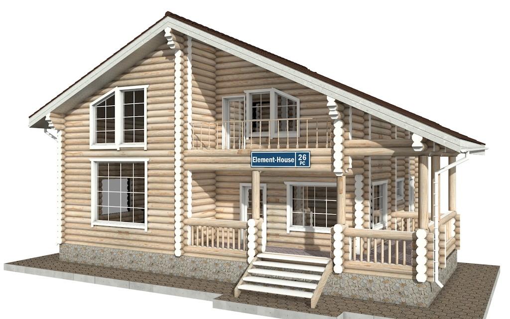 РС-26 - деревянный дома из бревна (из сруба)