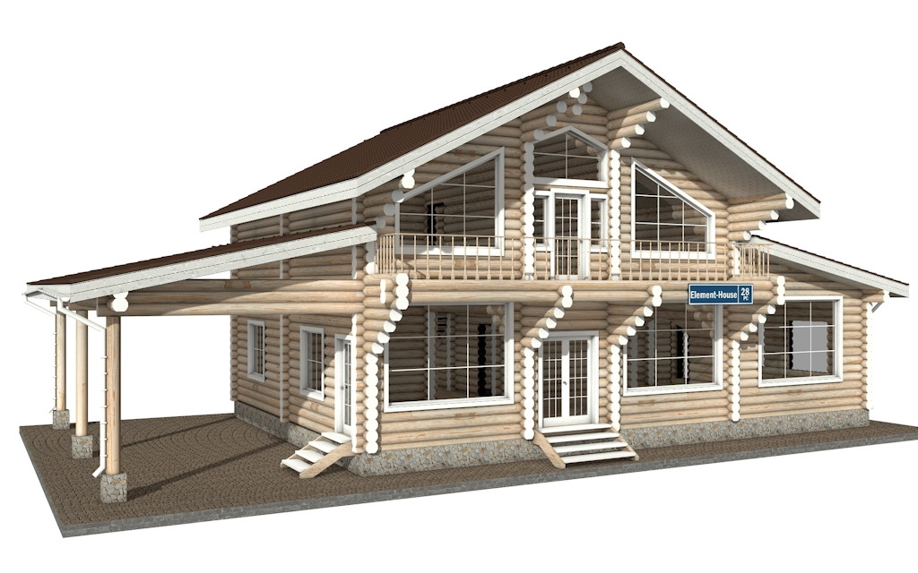 Фото #4: Красивый деревянный дом РС-28 из бревна
