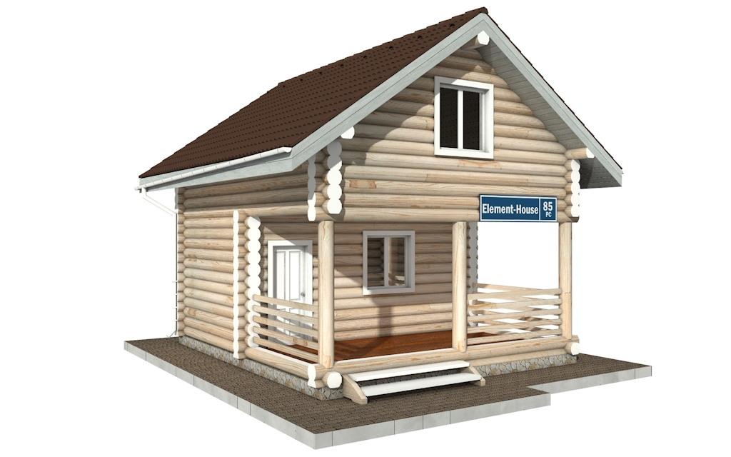 Фото #4: Красивый деревянный дом РС-85 из бревна