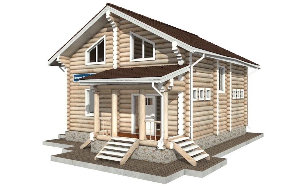 Фото #2: Красивый деревянный дом РС-86 из бревна