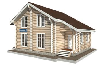 Фото #2: Красивый деревянный дом РС-87 из бревна