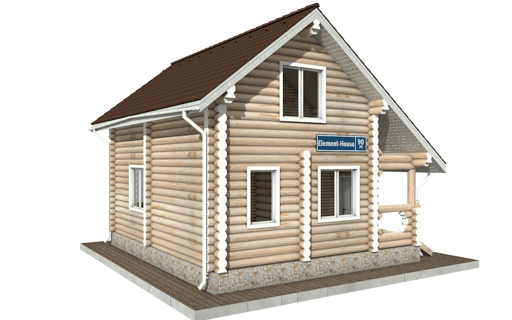 Фото #2: Красивый деревянный дом РС-90 из бревна