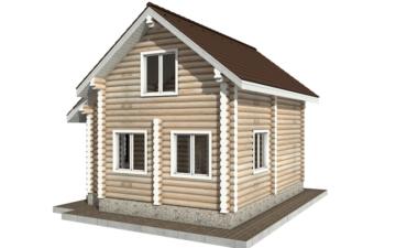 Фото #3: Красивый деревянный дом РС-90 из бревна