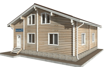 Фото #5: Красивый деревянный дом РС-91 из бревна