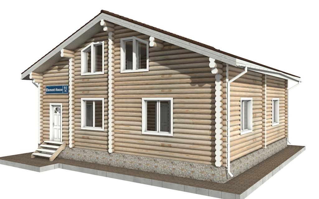 Фото #4: Красивый деревянный дом РС-91 из бревна