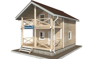 Фото #2: Красивый деревянный дом РС-92 из бревна