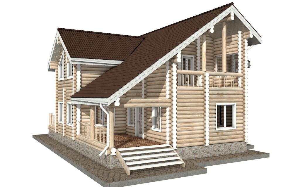 Фото #4: Красивый деревянный дом РС-30 из бревна