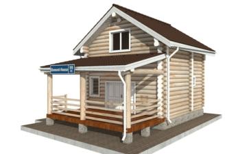 Фото #2: Красивый деревянный дом РС-99 из бревна