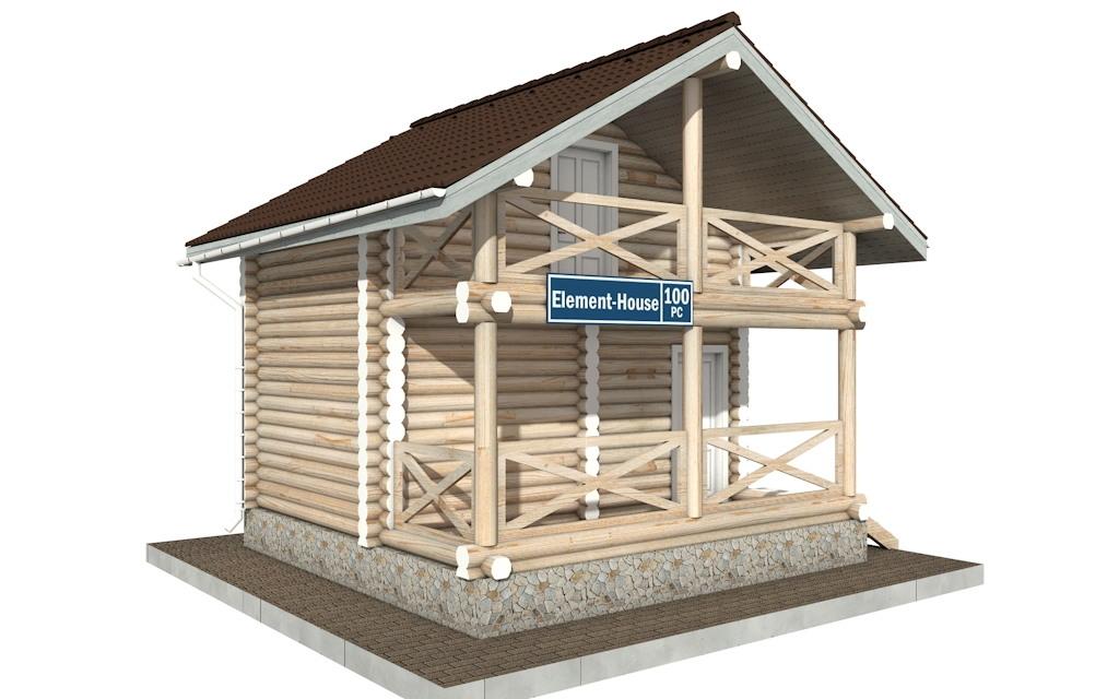 Фото #2: Красивый деревянный дом РС-100 из бревна