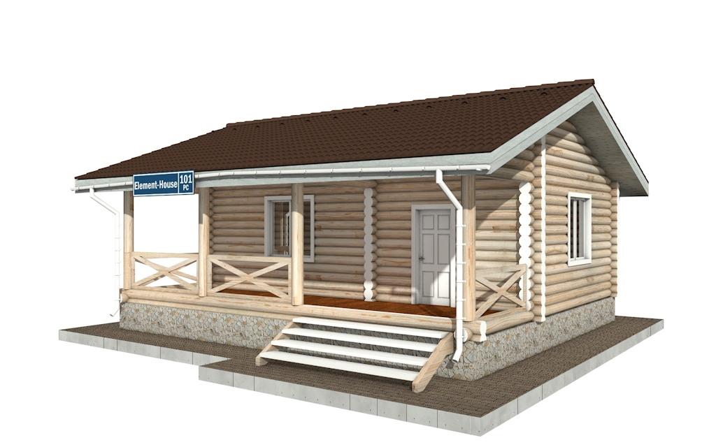 Фото #2: Красивый деревянный дом РС-101 из бревна