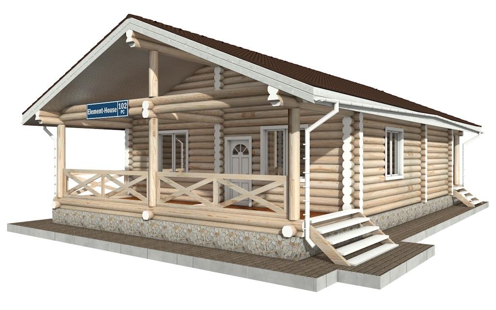 Фото #3: Красивый деревянный дом РС-102 из бревна