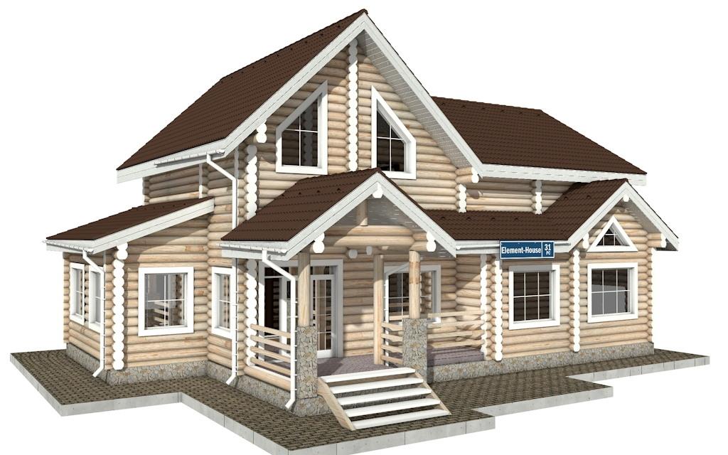 Фото #2: Красивый деревянный дом РС-31 из бревна