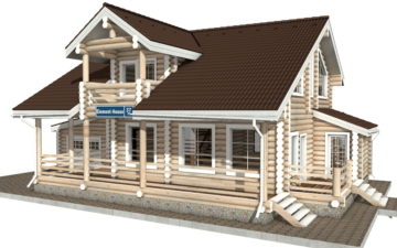 Фото #5: Красивый деревянный дом РС-37 из бревна