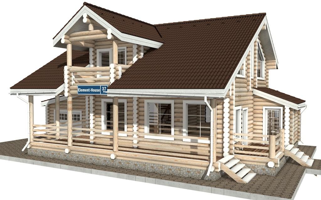 Фото #4: Красивый деревянный дом РС-37 из бревна