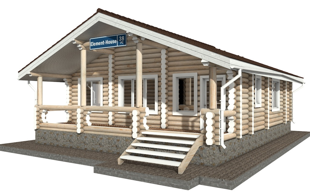 Фото #3: Красивый деревянный дом РС-38 из бревна