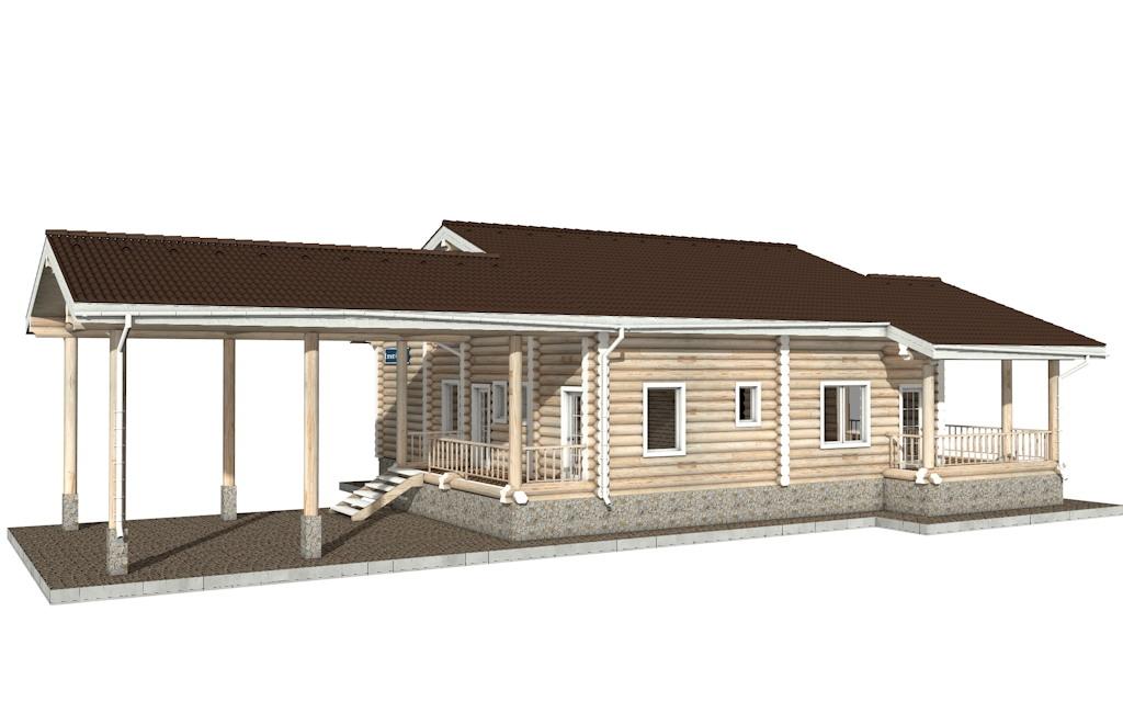 Фото #2: Красивый деревянный дом РС-40 из бревна