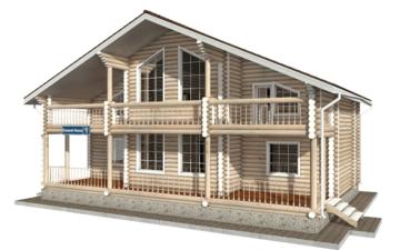 Фото #2: Красивый деревянный дом РС-42 из бревна