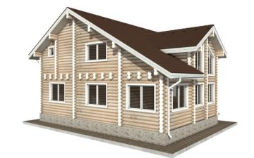 Фото #2: Красивый деревянный дом РС-48 из бревна