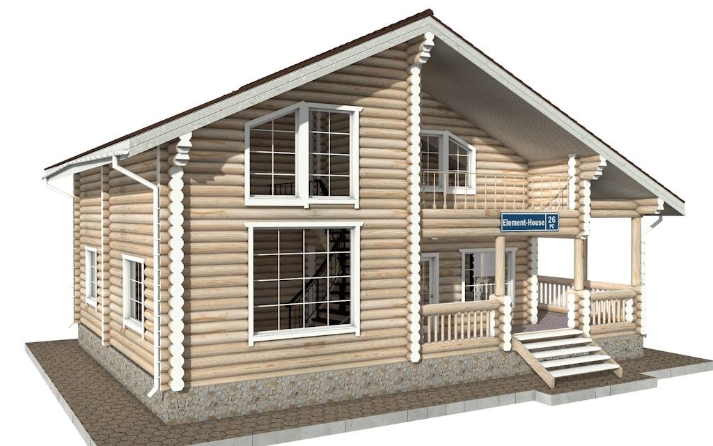 Фото #2: Красивый деревянный дом РС-26 из бревна