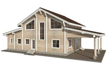 Фото #6: Красивый деревянный дом РС-28 из бревна