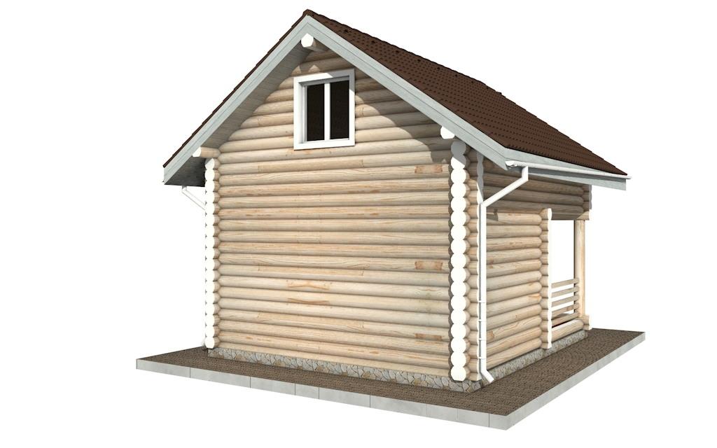 Фото #5: Красивый деревянный дом РС-85 из бревна